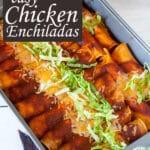 Chicken enchiladas Pinterest image