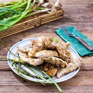 Garlic Scape, Lemon Grilled Chicken Tenders