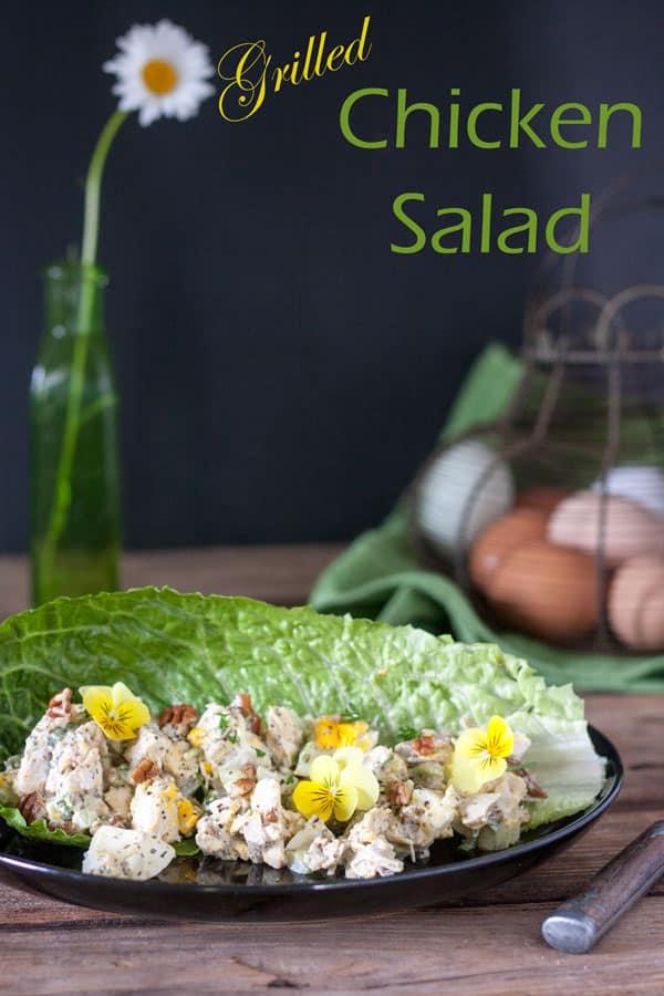 grilled chicken salad pin