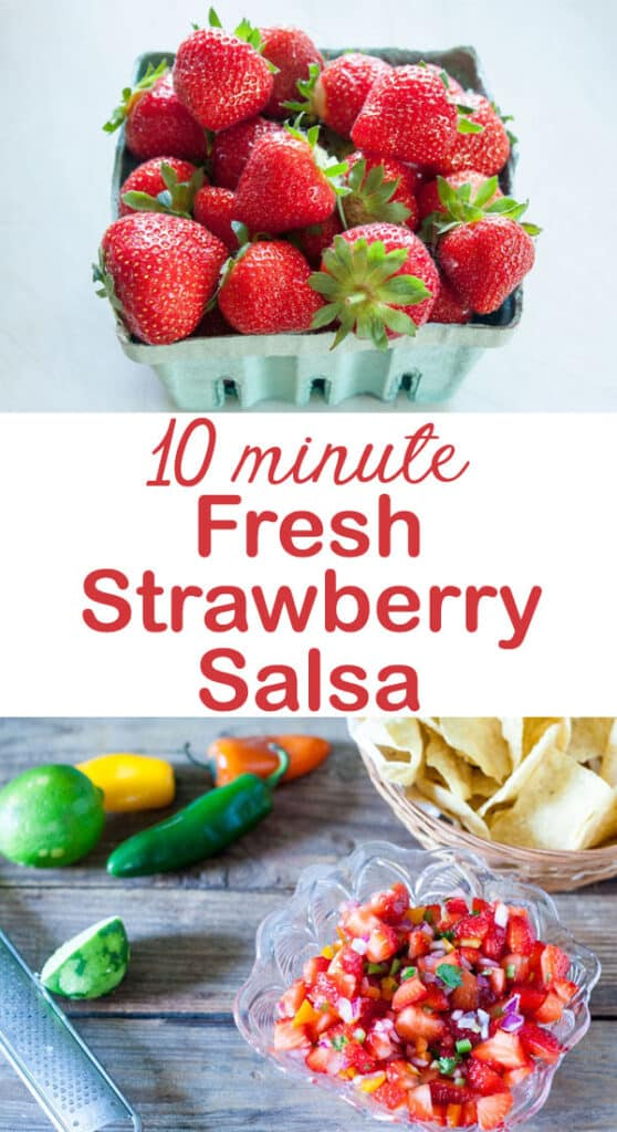 strawberry salsa Pinterest image