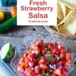strawberry salsa Pinterest image