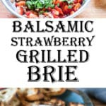 Brie with balsamic strawberries Pinterest image
