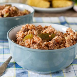 easy spanish rice with zucchini