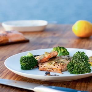 Grilled Salmon with Pesto Glamping on the Lake