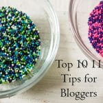 tips for new food bloggers image of colored sprinkles