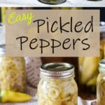 Pickled peppers Pinterest image
