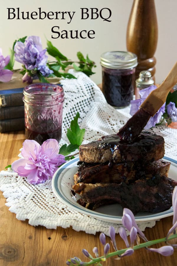 Blueberry BBQ Sauce Pinterest image