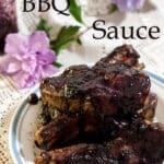 Blueberry BBQ Sauce Pinterest image