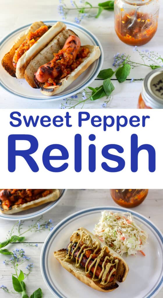 Hot pepper relish Pinterest image