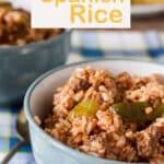 Spanish rice Pinterest image