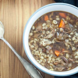 venison soup is easy, delicious and so economical! It can be made with leg bones that are usually thrown out.