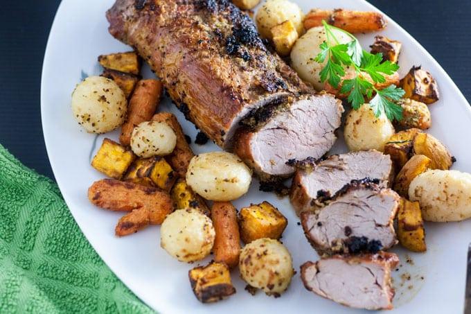 Garlic Air Fryer Pork Loin