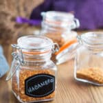 habanero recipes - hot pepper flakes in clear, square jar