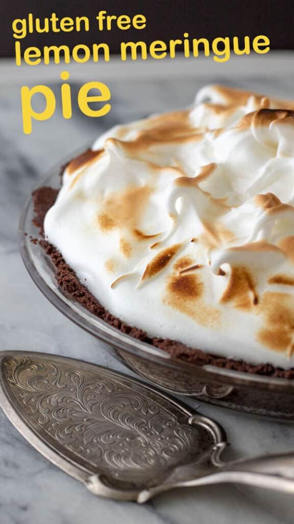 Gluten free Lemon Meringue pie Pinterest image