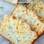 Zucchini cheese bread Pinterest image