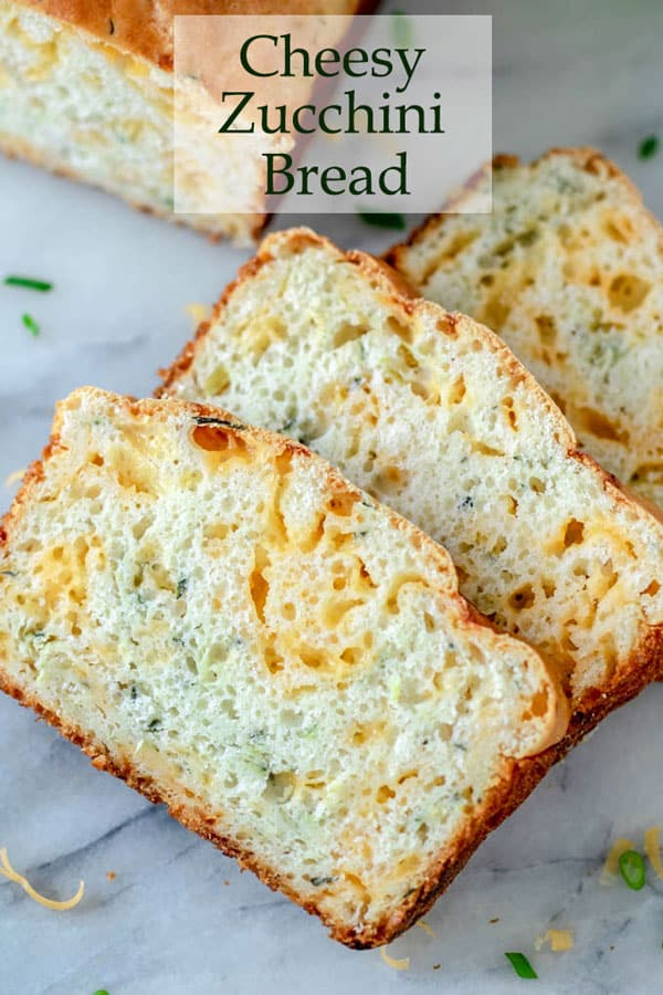 Zucchini cheese bread Pinterest image