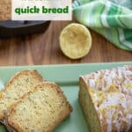 Lemon zucchini bread Pinterest image