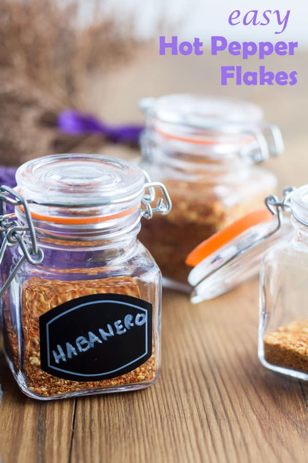 Hot Pepper Flakes Pinterest image with text overlay.