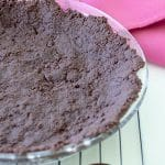 chocolate pie crust in pie plate