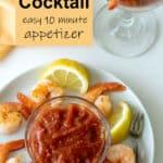 Garlic shrimp Pinterest image