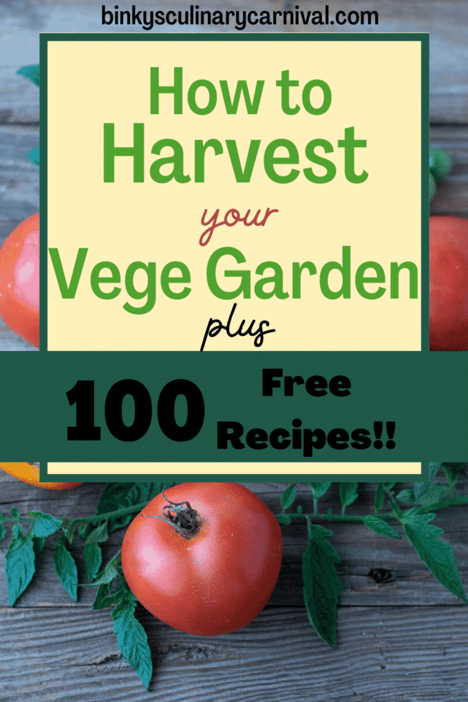 How to harest your garden Pinterest image with text overlay.