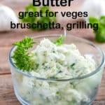 Garlic scape butter pinterest image.