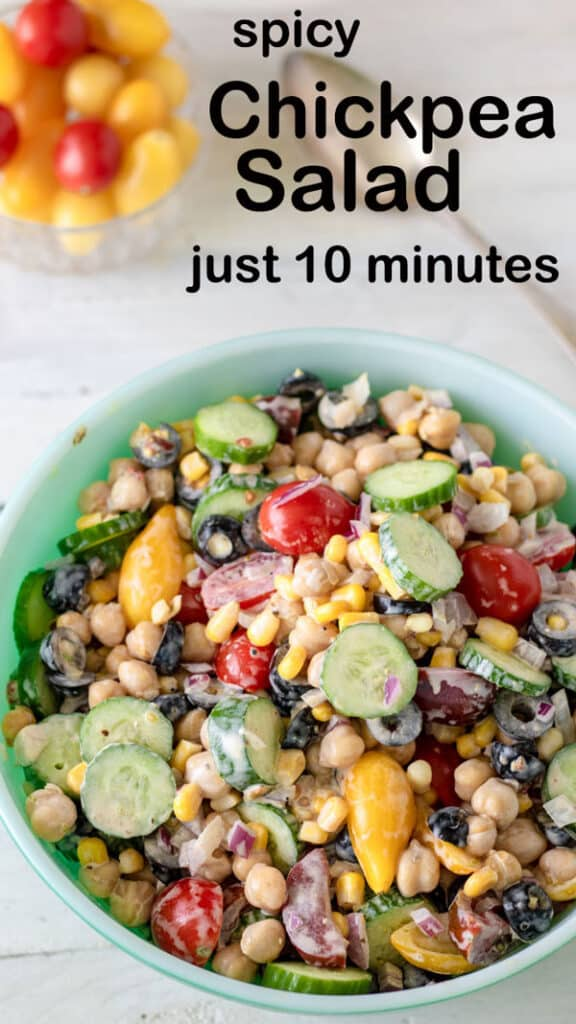 Garbanzo salad Pinterest image
