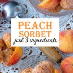 Peach sorbet Pinterest image