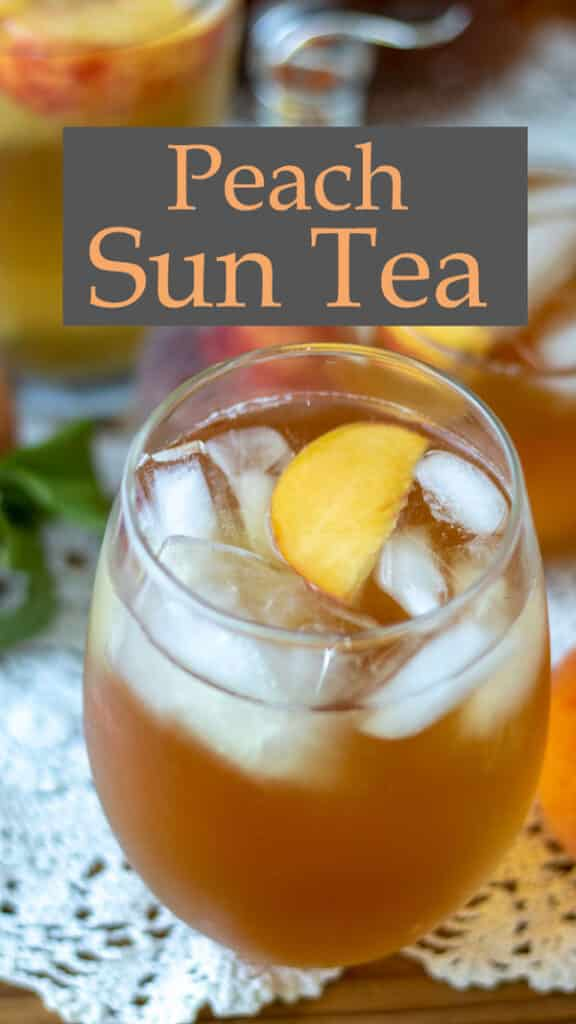 Peach tea Pinterest image