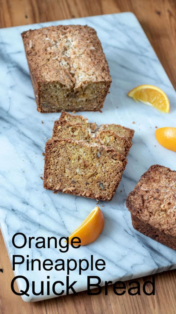 Orange Pineapple Bread Pinterest image