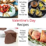 collage of recipes for valentine's day