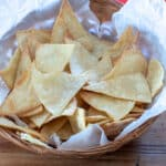 healthy tortilla chips in basket