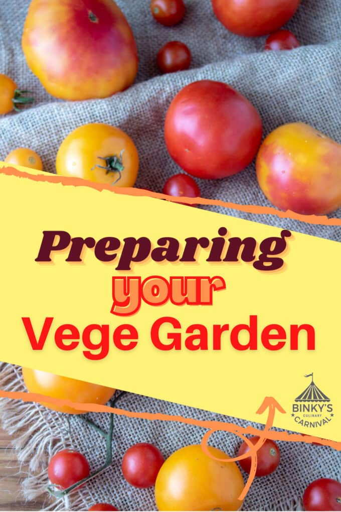 How to prepare your garden Pinterest image with text overlay.