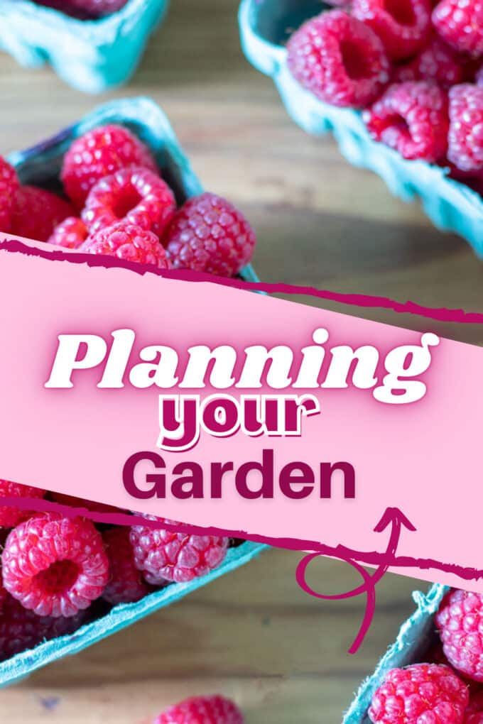 How to plan your garden Pinterest image with text overlay.