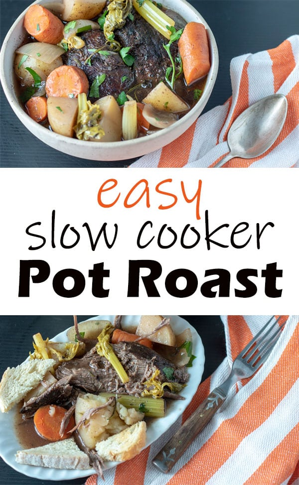 Slow cooker pot roast Pinterest image