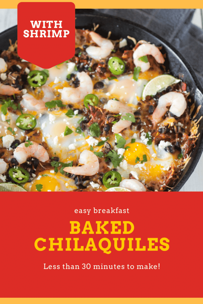 Chilaquiless Pinterest image with text overlay.