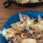 Chicken nachos Pinterest image