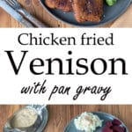 Chicken fried venison Pinterest image