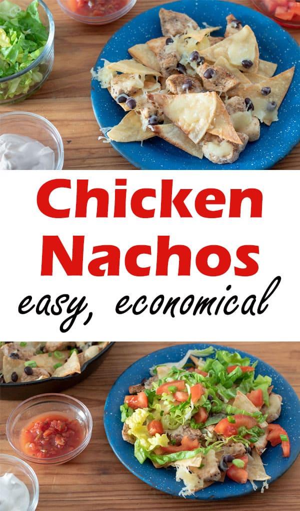 Chicken nachos Pinterest image