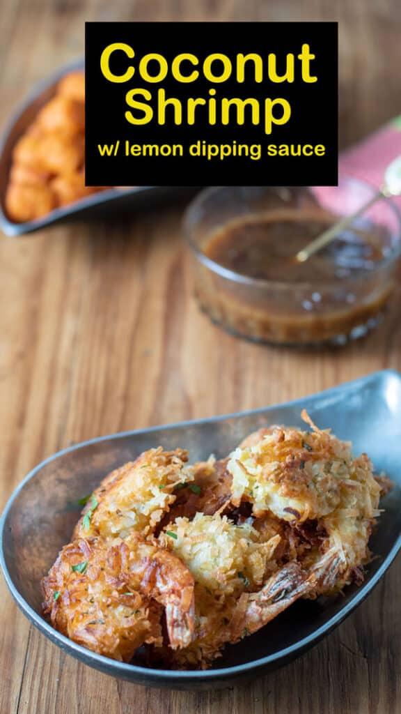 Coconut Shrimp Pinterest image