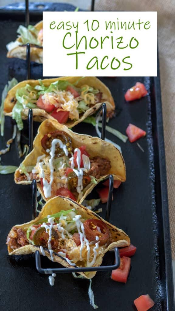 Chorizo toacos Pinterest image