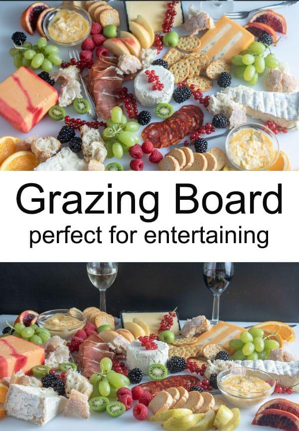 Pinterest image Grazing platter