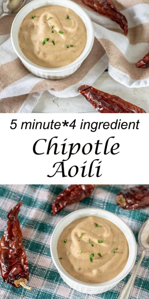 Pinterest image for chipotle aioli