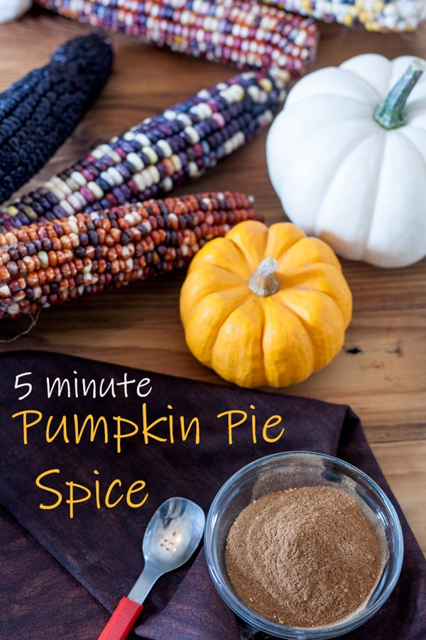 Pumpkin pie spice Pinterest image with text overlay.