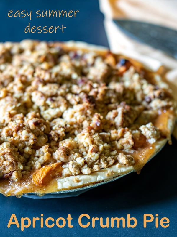 Apricot pie Pinterest image with text overlay