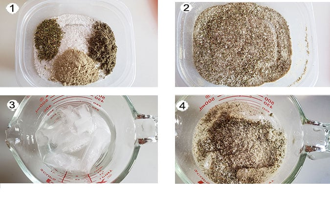 How to make seasoning photo collage. See recipe for details.