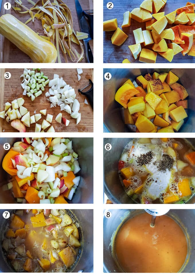 Step by photos of how to make soup. See details in recipe below.