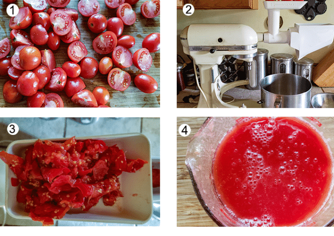 Preparing the juicer process collage. See details below in recipe.