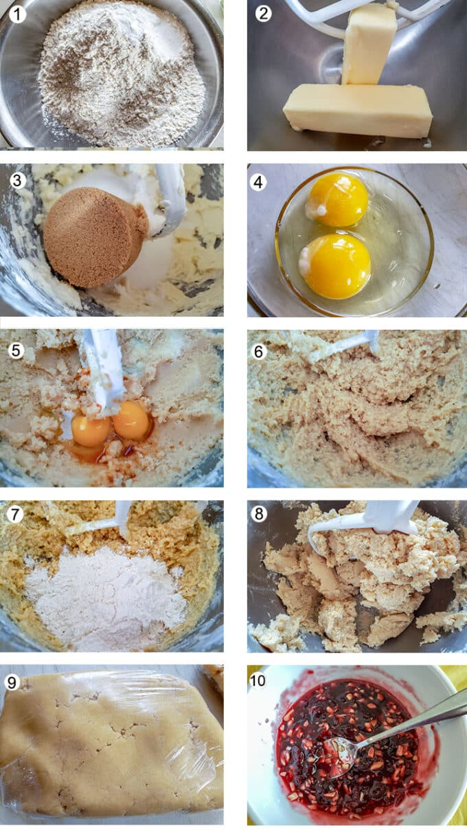Collage of photos showing steps to make these cookies. See recipe for details.