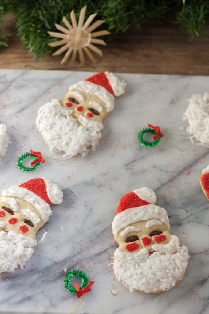 Santa Claus Christmas cutout cookie recipe